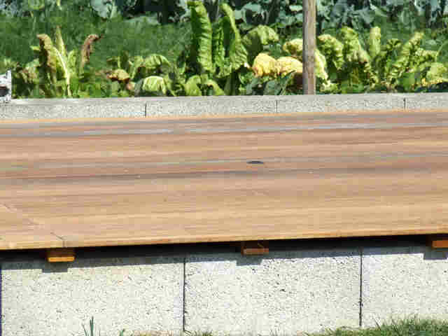 Net import for Pose terrasse bois sur parpaing